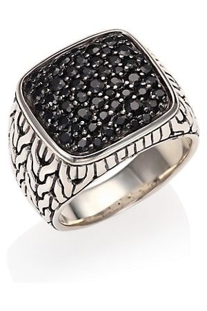 John Hardy Sterling & Black Sapphire Ring