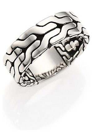 John Hardy Classic Chain Sterling Band Ring