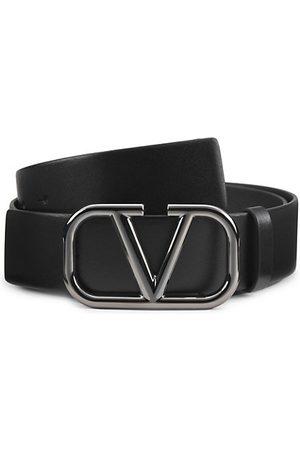 VALENTINO GARAVANI Logo Leather Belt