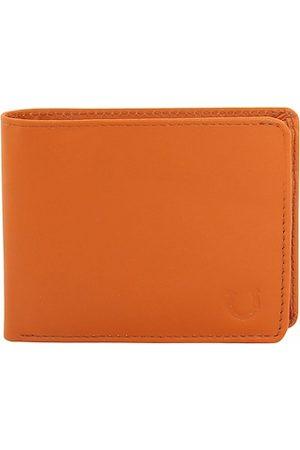 Blacksmith Men Orange Solid Two Fold Wallet