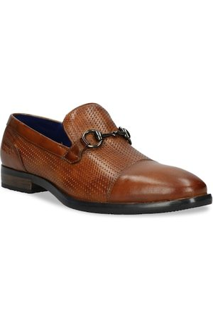 Bugatti Men Brown Textured Leather Formal Loafers