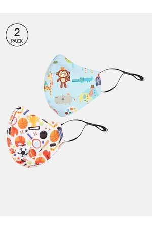 chicco Kids Pack Of 2 Printed 6-Ply Reusable Face Masks
