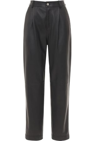 RED Valentino Straight Soft Leather Pants