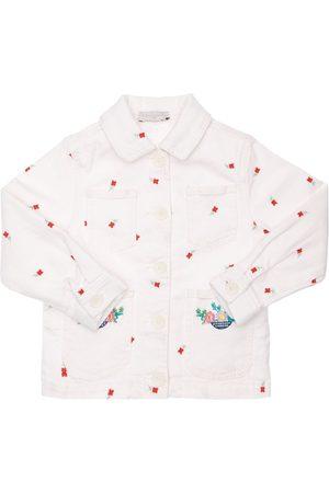 Stella McCartney Girls Denim Jackets - Embroidered Organic Cotton Denim Jacket