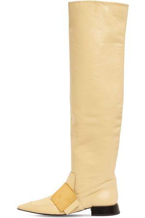 Jil Sander 20mm Grinch Leather Tall Boots
