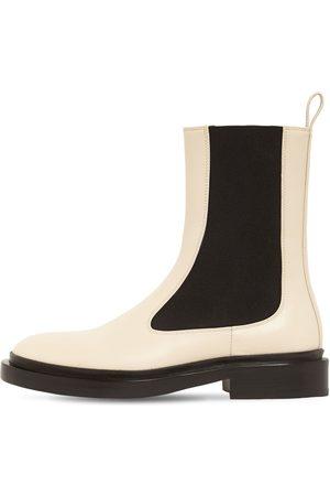 Jil Sander 30mm Royal Leather Chelsea Boots