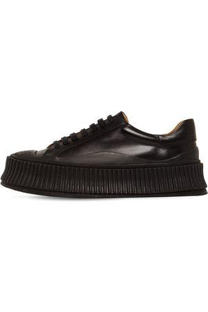 Jil Sander 40mm Vulcanized Leather Sneakers