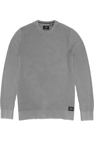Superdry Academy Dyed Crew Knit - Stone Grey Grit