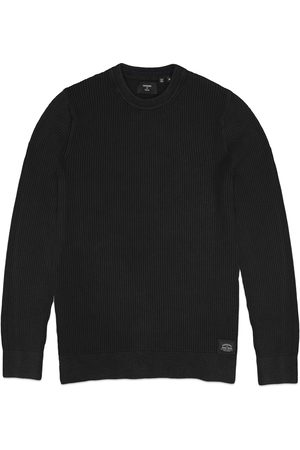Superdry Academy Dyed Crew Knit - Washed Carbon Black