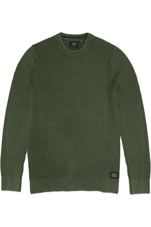 Superdry Academy Dyed Crew Knit - Seagrass