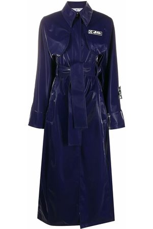 OFF-WHITE WOMEN'S OWEA233F20FAB0024500 POLYESTER TRENCH COAT