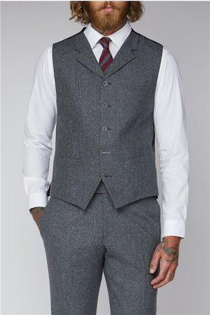 Gibson Grey Tweed Suit Waistcoat