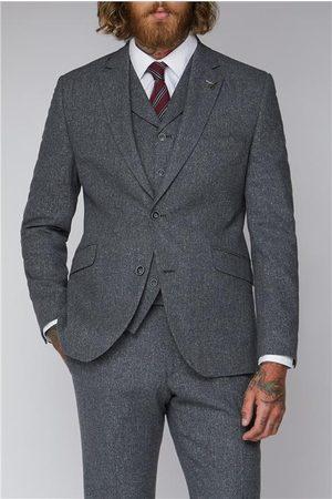 Gibson Men Jackets - Grey Tweed Suit Jacket