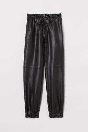 H&M Leather joggers