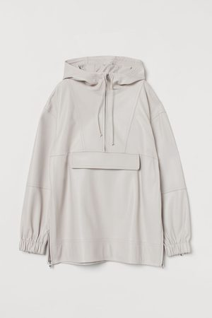 H&M Leather popover jacket