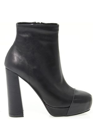 Jeffrey Campbell Women Ankle Boots - WOMEN'S JEFFRJC3441 LEATHER ANKLE BOOTS