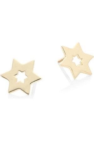 Lana Girl Star 14K Yellow Stud Earrings