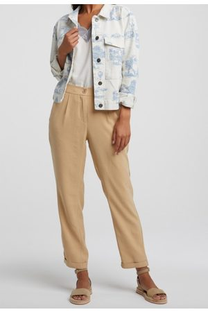 YAYA Women Trousers - Relaxed fit trousers croissant
