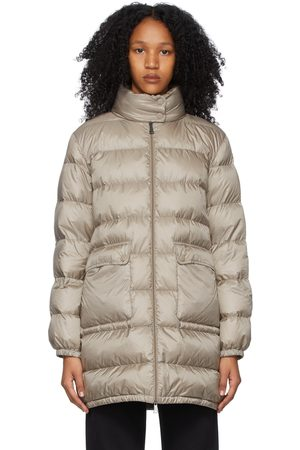 Moncler Taupe Down Abricotier Coat
