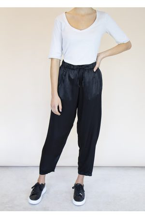 Emma Vowles Women Tapered - RENE TAPERED SATIN TROUSERS