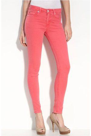 Hudson Women Slim Trousers - Hudson WM407JFD Nico Skinny Cherry