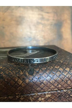 WINDOW DRESSING THE SOUL Women Bangles - WDTS Oxidised bangle - ANYTHING IS POSSIBLE