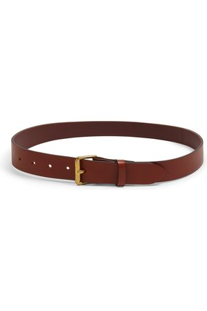 Burrows and Hare Men Belts - Burrows & Hare Bridle Leather Belt - Tan