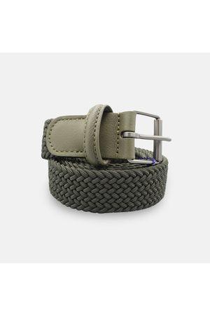 Anderson's Andersons Woven Textile Belt - Khaki 3cm