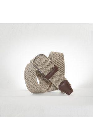 Anderson's Andersons Woven Textile Belt - Ecru 3.5cm