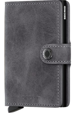 Secrid Vintage Grey Leather Mini Wallet