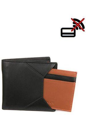 Dents Black & Tan Hybrid Leather Wallet