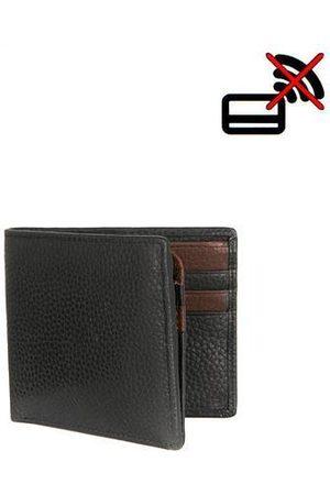 Dents Men Wallets - Black & Brown Grain Leather Wallet
