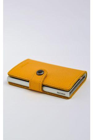 Secrid Men Wallets - Crisple Amber Leather Mini Wallet