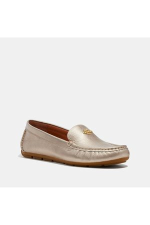 Coach Women Loafers - Marley Metallic Driver Flat Loafer