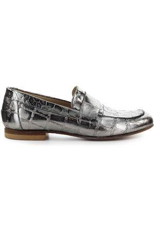 Strategia Women Loafers - CROCODILE PRINT STEEL LOAFER