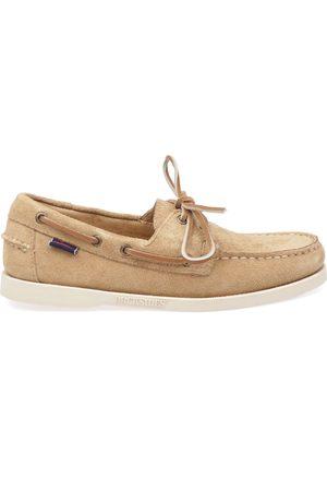 SEBAGO Men Loafers - MEN'S 7111PTW906 BEIGE SUEDE LOAFERS