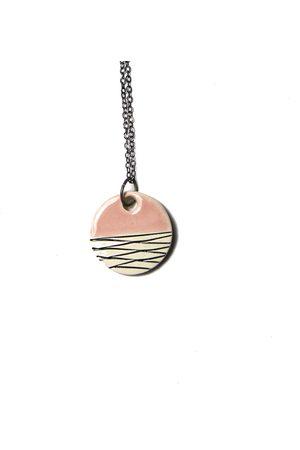 Isla Ibiza Clay Ceramic Small Round Pendant Necklace