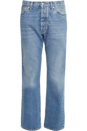MAISON MARGIELA Cotton Denim Regular Fit Crop Jeans