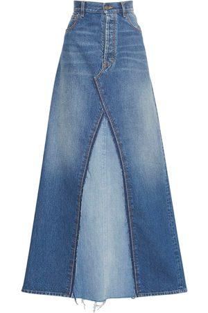 Maison Margiela Cotton Denim Long Skirt