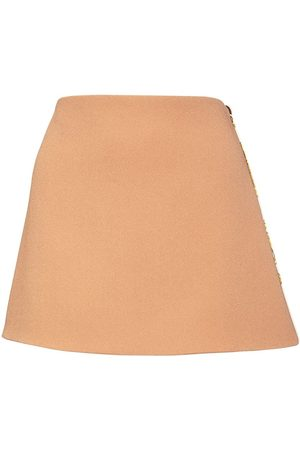 VERSACE Satin Mini Skirt