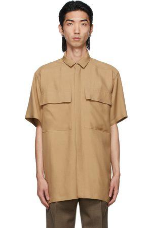 Fear of God Tan Crepe Short Sleeve Shirt