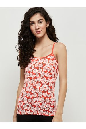 Max Collection Women Red & White Printed Camisoles