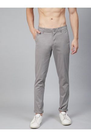 Roadster Men Grey Chinos Trousers