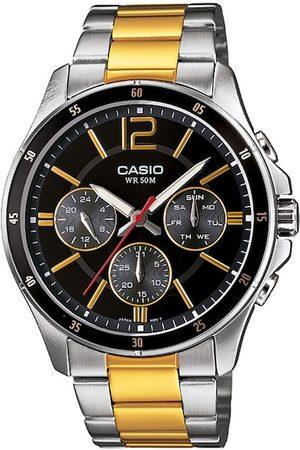 Casio Men Watches - Enticer Men Black Analogue Watch A1652 MTP-1374HSG-1AVIF
