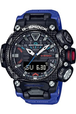 Casio Men Black & Blue Analogue and Digital Watch G1073