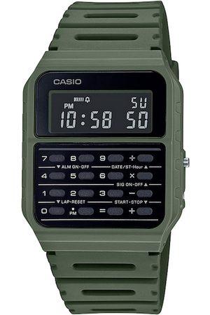 CASIO Unisex Black & Green Digital Watch D210