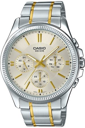 CASIO Enticer Men Silver-Toned Analogue Watch A1657 MTP-1375HSG-9AVIF