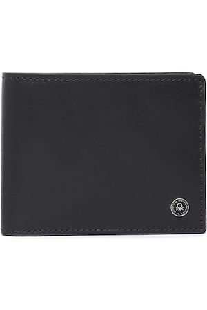 Benetton Men Light Brown Solid Leather Two Fold Wallet