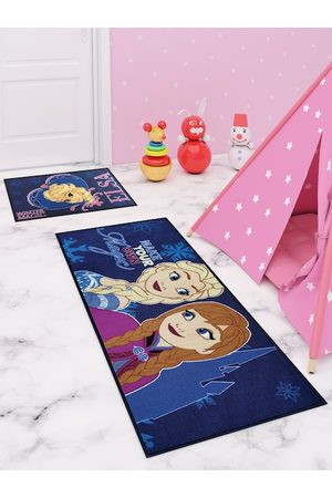 Disney Set of 2 Blue & Yellow Printed Runner Carpet & Doormat Combo