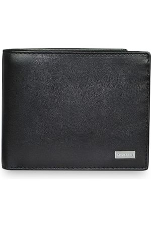 Cross Men Black Solid Insignia Genuine Leather Compact Wallet